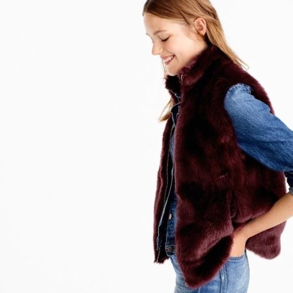 J.Crew Mercantile Womens Faux Fur Vest